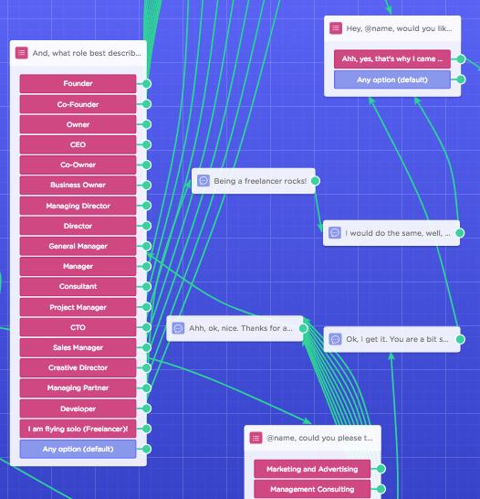 landing page chatbot design