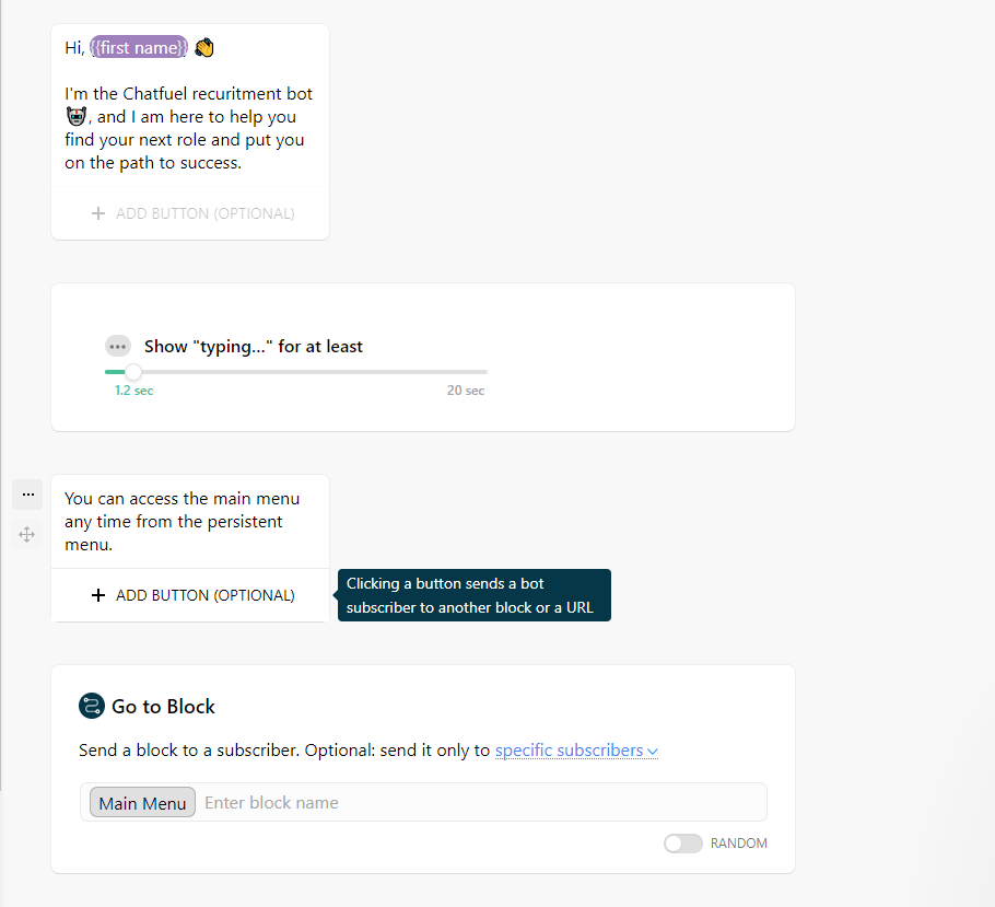 Chatfuel Messenger Bot 1