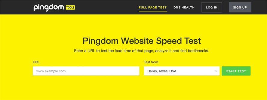 Pingdom Website Speed Test για μέτρηση απόδοσης ιστοσελίδων