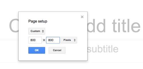 Προσαρμογή Μεγέθους Καμβά στο Google Slides