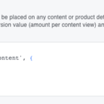 Facebook Pixel recommended code event.