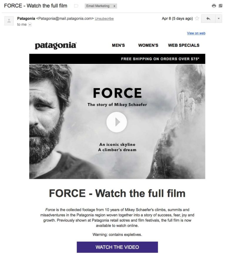 patagonia video example