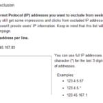 Adwords IP exclusion