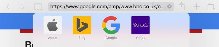 Παράδειγμα URL σε AMP άρθρο