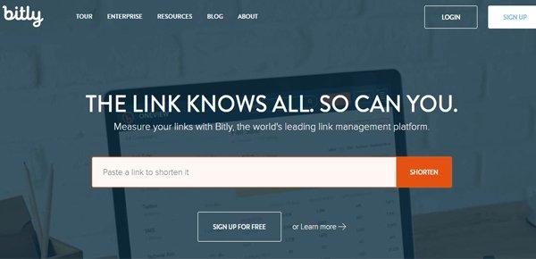 Bit.ly social media management εργαλείο