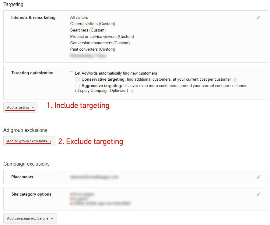 Dynamic Remarketing Include-Exclude