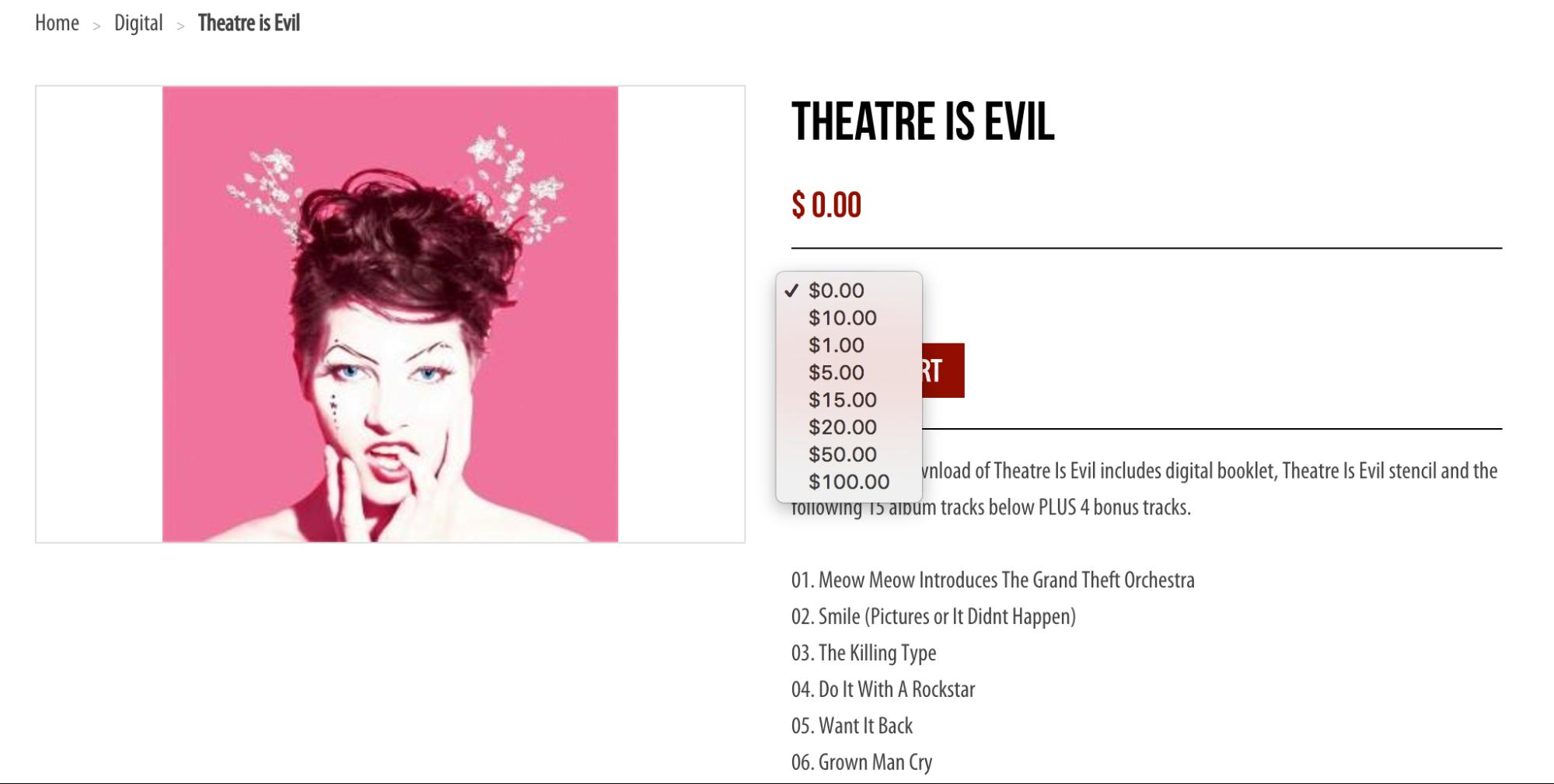 eCommerce tactics: Η Amanda Palmer επιτρέπει στους χρήστες να πληρώσουν ότι επιθυμούν για να κάνουν download τα έργα της