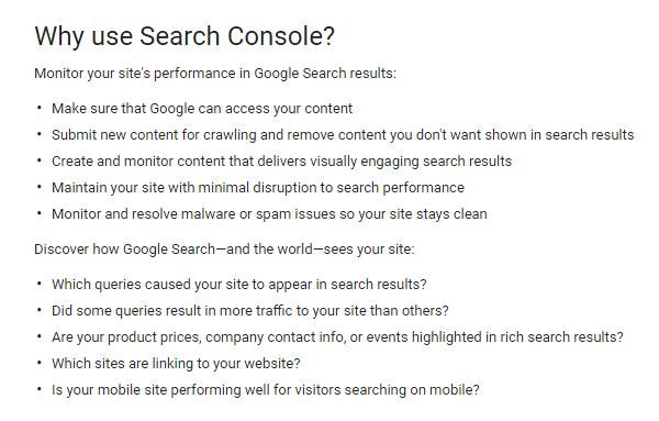 Γιατί να χρησιμοποιήσεις το Google Search Console