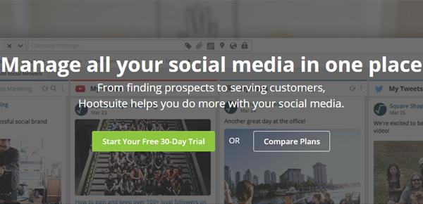 Hootsuite social media management εργαλείο