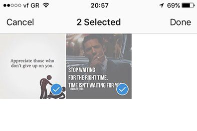 Instagram collections save photos