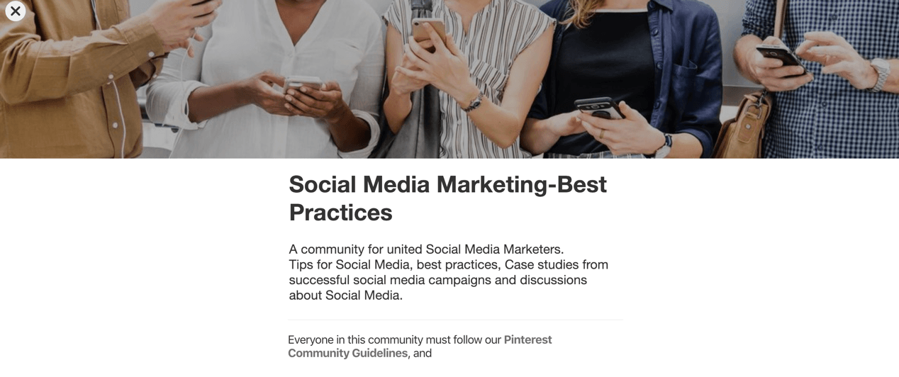 Pinterest Communities 3
