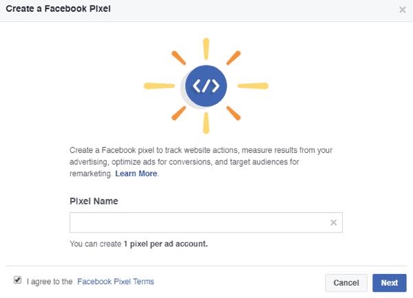 Δώσε ένα όνομα στο Facebook Pixel σου.