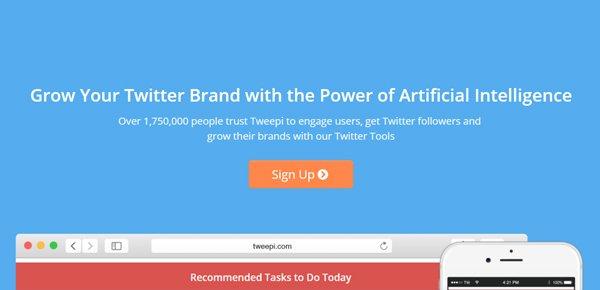 Tweepi social media management εργαλείο