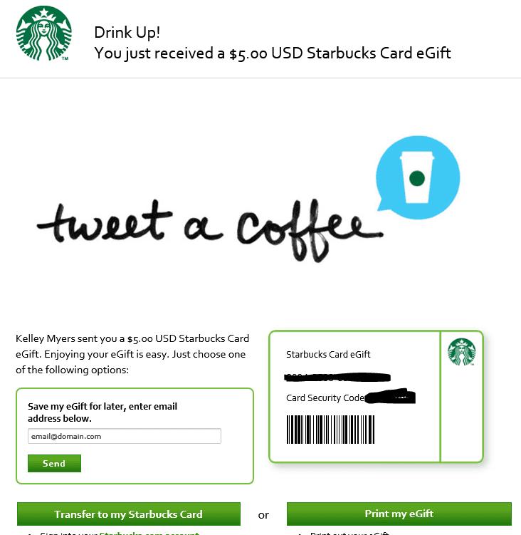 starbucks campaign tweet a coffee