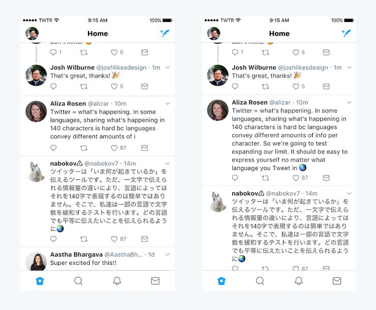 Το Twitter δοκιμάζει να αυξήσει το όριο των χαρακτήρων στους 280
